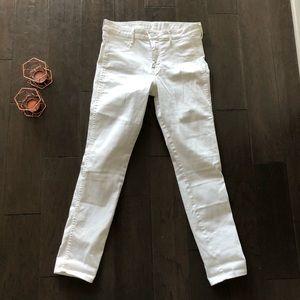 H&M white denim jeans
